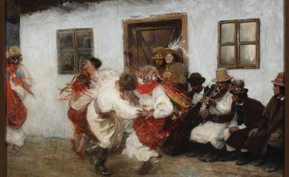 """T. Axentowicz """"Kołomyjka"""""""