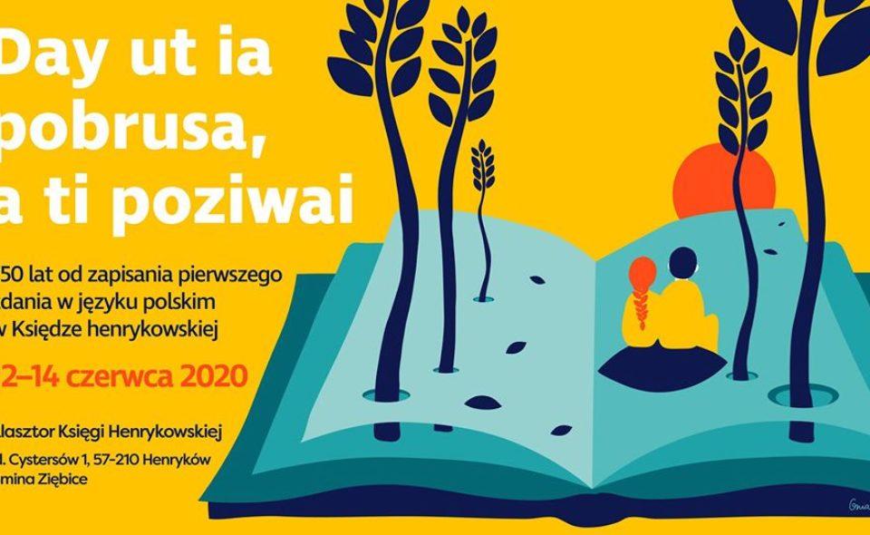 Dni Klasztoru Księgi Henrykowskiej, Henryków, 12-14 czerwca 2020 r. <span class=