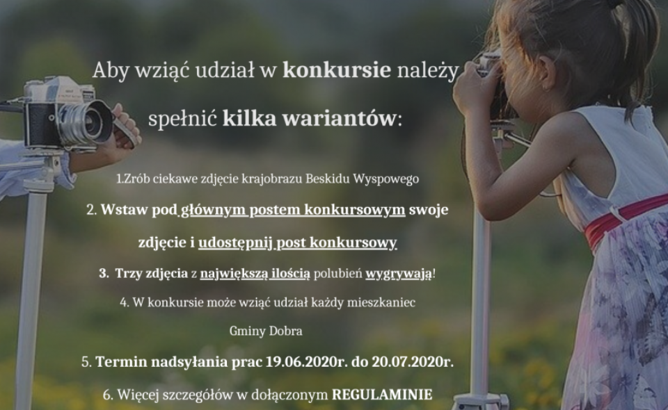 Skarby Beskidu Wyspowego w Obiektywie –  konkurs fotograficzny