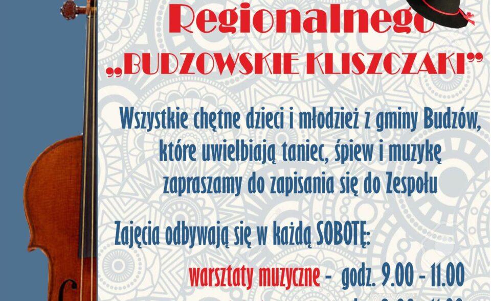 """Nabór do zespołu """"Budzowskie Kliszczaki"""" – Budzów"""