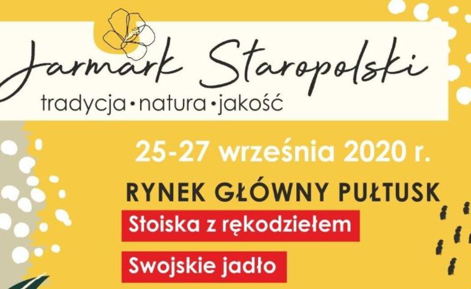 Jarmark Staropolski, Pułtusk, 25-27 września 2020 r.