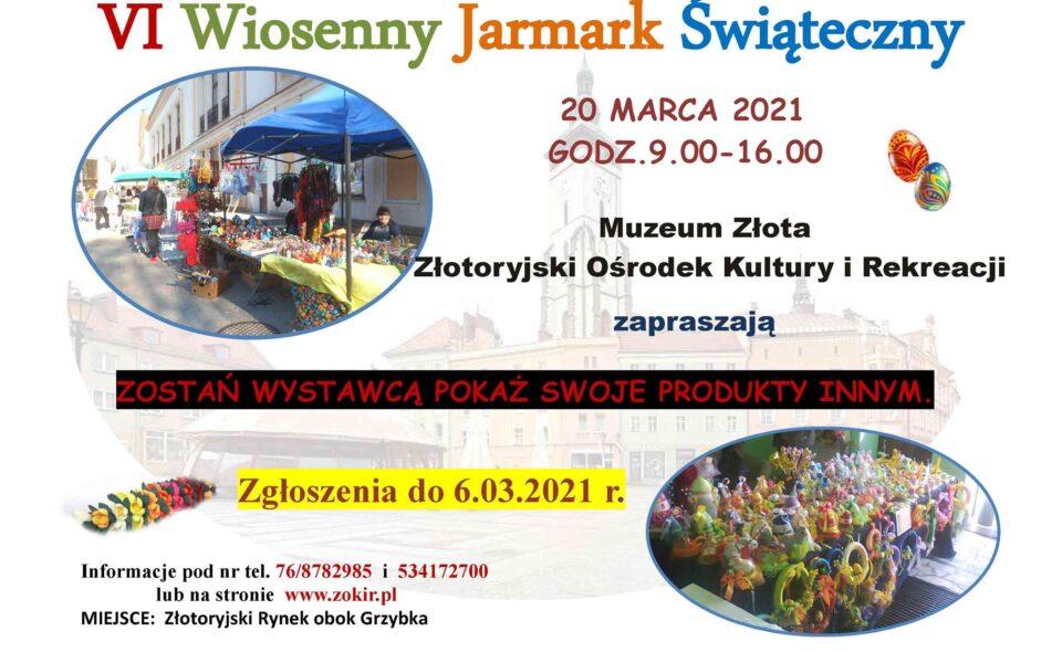 VI Wiosenny Jarmark Świąteczny – Złotoryja, 20. marca 2021r. <span class=