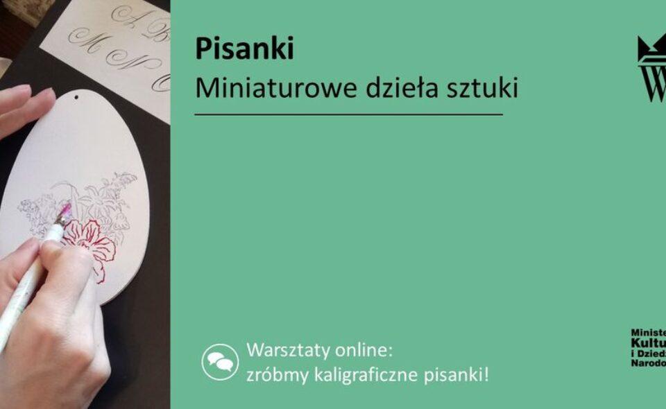 """Warsztaty online pn. """"Pisanki – miniaturowe dzieła sztuki"""" – Wilanów, 31. marca 2021r. godz. 18:00 <span class="""