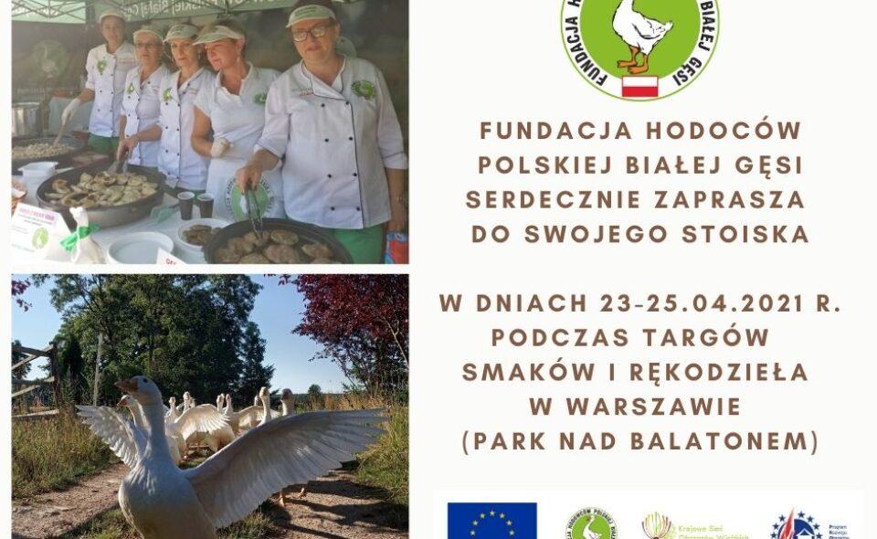 Targ Smaków i Rękodzieła -Warszawa, 23-25 maja 2021 r. <span class=