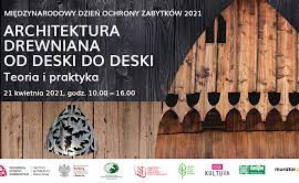 """Webinarium pt. """"Architektura drewniana od deski do deski"""" – Zakopane, 21. kwiecień 2021 r. <span class="""