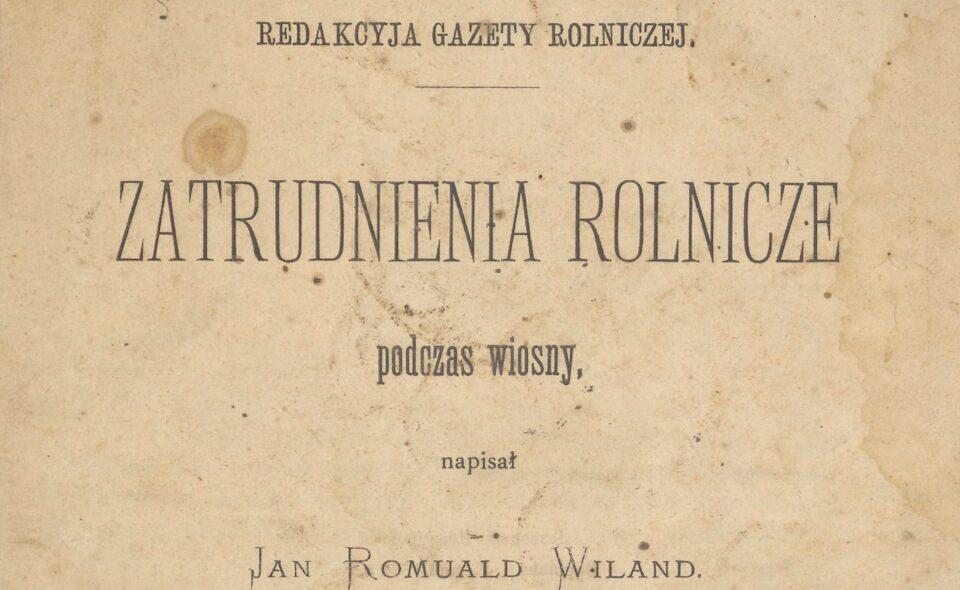 Zatrudnienia rolnicze podczas wiosny, Warszawa, 1874
