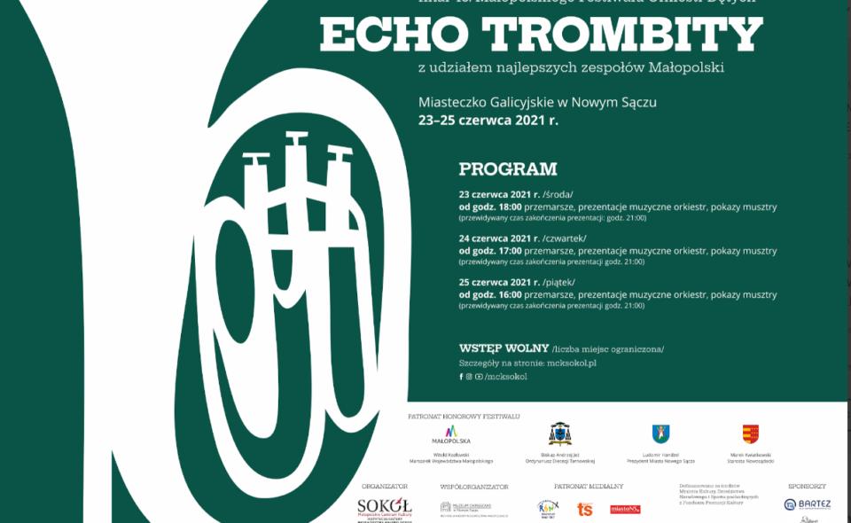 """43. Małopolski Festiwal Orkiestr Dętych """"Echo Trombity""""- Nowy Sącz, 23–25.  czerwca 2021 r. – Narodowy Instytut Kultury i Dziedzictwa Wsi"""