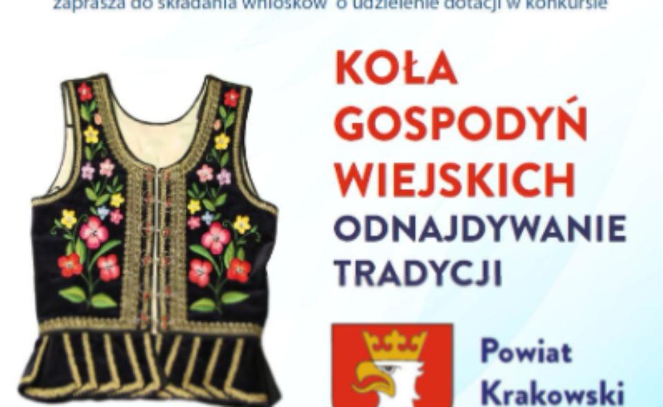"""Konkurs pn. """"Koła gospodyń wiejskich – odnajdywanie tradycji""""– Kraków, zgłoszenia do 17. czerwca 2021 r."""