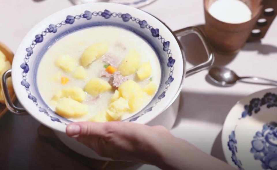 """Polewka z jagnięciny z grulami! Zapraszamy do obejrzenia kolejnego filmiku z cyklu """"Jagnięcina Podhalańska"""""""
